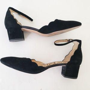 Sam Edelman Lara Black Ankle Strap Pumps